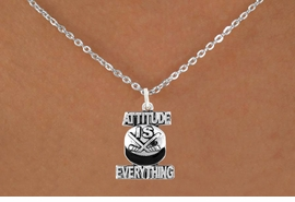 "<bR>                              EXCLUSIVELY OURS!!<BR>                        AN ALLAN ROBIN DESIGN!!<BR>               CLICK HERE TO SEE 600+ EXCITING<BR>                  CHANGES THAT YOU CAN MAKE!<BR>                             LEAD & NICKEL FREE!!<BR>         W1051SN - ""ATTITUDE IS EVERYTHING""<Br>HOCKEY NECKLACE FROM $4.55 TO $8.00 ©2011"