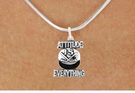 "<bR>                              EXCLUSIVELY OURS!!<BR>                        AN ALLAN ROBIN DESIGN!!<BR>               CLICK HERE TO SEE 600+ EXCITING<BR>                  CHANGES THAT YOU CAN MAKE!<BR>                             LEAD & NICKEL FREE!!<BR>         W1051SN - ""ATTITUDE IS EVERYTHING""<Br>HOCKEY NECKLACE FROM $4.50 TO $8.35 ©2011"