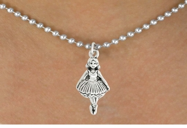 <bR>                   EXCLUSIVELY OURS!!<BR>             AN ALLAN ROBIN DESIGN!!<BR>    CLICK HERE TO SEE 600+ EXCITING<BR>       CHANGES THAT YOU CAN MAKE!<BR>                  LEAD & NICKEL FREE!!<BR>                 W1053SN - BALLERINA<Br>NECKLACE FROM $4.50 TO $8.35 �2011