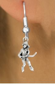"<bR>                   EXCLUSIVELY OURS!!<BR>             AN ALLAN ROBIN DESIGN!!<BR>    CLICK HERE TO SEE 600+ EXCITING<BR>       CHANGES THAT YOU CAN MAKE!<BR>                  LEAD & NICKEL FREE!!<BR>             W1056SE - ""HOCKEY GIRL""<Br>EARRINGS FROM $3.25 TO $8.00 �2011"