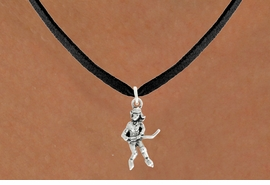 "<bR>                   EXCLUSIVELY OURS!!<BR>             AN ALLAN ROBIN DESIGN!!<BR>    CLICK HERE TO SEE 600+ EXCITING<BR>       CHANGES THAT YOU CAN MAKE!<BR>                  LEAD & NICKEL FREE!!<BR>             W1056SN - ""HOCKEY GIRL""<Br>NECKLACE FROM $4.55 TO $8.00 �2011"