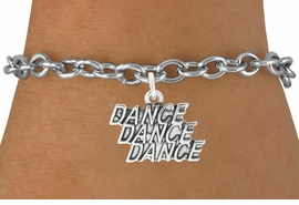 """<bR>                                 EXCLUSIVELY OURS!!<BR>                           AN ALLAN ROBIN DESIGN!!<BR>                  CLICK HERE TO SEE 600+ EXCITING<BR>                     CHANGES THAT YOU CAN MAKE!<BR>                                LEAD & NICKEL FREE!!<BR>                W1072SB - """"DANCE, DANCE, DANCE""""<Br>             BRACELET FROM $4.15 TO $8.00 ©2011"""