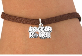 "<bR>                      EXCLUSIVELY OURS!!<BR>                AN ALLAN ROBIN DESIGN!!<BR>       CLICK HERE TO SEE 600+ EXCITING<BR>          CHANGES THAT YOU CAN MAKE!<BR>                     LEAD & NICKEL FREE!!<BR>     W1103SB - ""SOCCER ROCKS"" CHARM<Br> & BRACELET FROM $4.15 TO $8.00 ©2011"