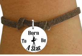 "<bR>                               EXCLUSIVELY OURS!!<BR>                         AN ALLAN ROBIN DESIGN!!<BR>                CLICK HERE TO SEE 600+ EXCITING<BR>                   CHANGES THAT YOU CAN MAKE!<BR>                             LEAD & NICKEL FREE!!<BR>W1128SB - ""BORN TO BE A STAR"" BALLET CHARM  &<Br>CHILDRENS BRACELET FROM $4.15 TO $8.00 �2011"