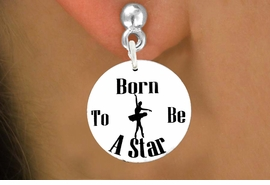 "<bR>                           EXCLUSIVELY OURS!!<BR>                     AN ALLAN ROBIN DESIGN!!<BR>            CLICK HERE TO SEE 600+ EXCITING<BR>               CHANGES THAT YOU CAN MAKE!<BR>                          LEAD & NICKEL FREE!!<BR>W1128SE - ""BORN TO BE A STAR"" BALLET<Br>CHARM EARRINGS FROM $3.25 TO $8.00 �2011"