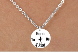 "<bR>                              EXCLUSIVELY OURS!!<BR>                        AN ALLAN ROBIN DESIGN!!<BR>               CLICK HERE TO SEE 600+ EXCITING<BR>                  CHANGES THAT YOU CAN MAKE!<BR>                             LEAD & NICKEL FREE!!<BR>     W1128SN - ""BORN TO BE A STAR"" BALLET CHARM &<Br>CHILDRENS NECKLACE FROM $4.55 TO $8.00 �2011"