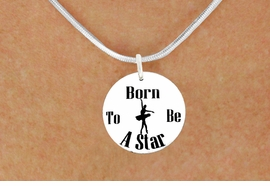 "<bR>                              EXCLUSIVELY OURS!!<BR>                        AN ALLAN ROBIN DESIGN!!<BR>               CLICK HERE TO SEE 600+ EXCITING<BR>                  CHANGES THAT YOU CAN MAKE!<BR>                             LEAD & NICKEL FREE!!<BR>     W1128SN - ""BORN TO BE A STAR"" BALLET<Br>CHARM & NECKLACE FROM $4.55 TO $8.00 �2011"