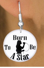 "<bR>                           EXCLUSIVELY OURS!!<BR>                     AN ALLAN ROBIN DESIGN!!<BR>            CLICK HERE TO SEE 600+ EXCITING<BR>               CHANGES THAT YOU CAN MAKE!<BR>                          LEAD & NICKEL FREE!!<BR>W1134SE - ""BORN TO BE A STAR"" SINGER<Br>CHARM EARRINGS FROM $3.25 TO $8.00 �2011"