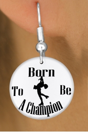 "<bR>                           EXCLUSIVELY OURS!!<BR>                     AN ALLAN ROBIN DESIGN!!<BR>            CLICK HERE TO SEE 600+ EXCITING<BR>               CHANGES THAT YOU CAN MAKE!<BR>                          LEAD & NICKEL FREE!!<BR>W1135SE - ""BORN TO BE A CHAMPION"" ICE SKATER<Br>CHARM EARRINGS FROM $4.50 TO $8.35 �2011"