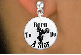 "<bR>                           EXCLUSIVELY OURS!!<BR>                     AN ALLAN ROBIN DESIGN!!<BR>            CLICK HERE TO SEE 600+ EXCITING<BR>               CHANGES THAT YOU CAN MAKE!<BR>                          LEAD & NICKEL FREE!!<BR>W1144SE - ""BORN TO BE A STAR"" CHEERLEADER<Br>CHARM EARRINGS FROM $3.25 TO $8.00 �20112"