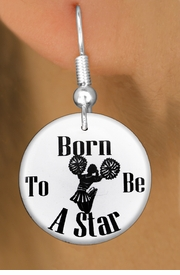 "<bR>                           EXCLUSIVELY OURS!!<BR>                     AN ALLAN ROBIN DESIGN!!<BR>            CLICK HERE TO SEE 600+ EXCITING<BR>               CHANGES THAT YOU CAN MAKE!<BR>                          LEAD & NICKEL FREE!!<BR>W1144SE - ""BORN TO BE A STAR"" CHEERLEADER<Br>CHARM EARRINGS FROM $3.25 TO $8.00 �2012"