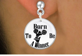 "<bR>                           EXCLUSIVELY OURS!!<BR>                     AN ALLAN ROBIN DESIGN!!<BR>            CLICK HERE TO SEE 600+ EXCITING<BR>               CHANGES THAT YOU CAN MAKE!<BR>                          LEAD & NICKEL FREE!!<BR>W1145SE - ""BORN TO BE A WINNER"" CHEERLEADER<Br>CHARM EARRINGS FROM $3.25 TO $8.00 �2012"