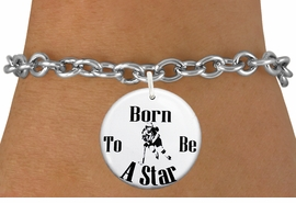"<bR>                               EXCLUSIVELY OURS!!<BR>                         AN ALLAN ROBIN DESIGN!!<BR>                CLICK HERE TO SEE 600+ EXCITING<BR>                   CHANGES THAT YOU CAN MAKE!<BR>                             LEAD & NICKEL FREE!!<BR>W1148SB - ""BORN TO BE A STAR"" WOMENS ICE HOCKEY<Br>CHARM  & BRACELET FROM $4.15 TO $8.00 �2012"