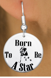 "<bR>                           EXCLUSIVELY OURS!!<BR>                     AN ALLAN ROBIN DESIGN!!<BR>            CLICK HERE TO SEE 600+ EXCITING<BR>               CHANGES THAT YOU CAN MAKE!<BR>                          LEAD & NICKEL FREE!!<BR>W1148SE - ""BORN TO BE A STAR"" WOMENS ICE HOCKEY<Br>CHARM EARRINGS FROM $3.25 TO $8.00 �2011"