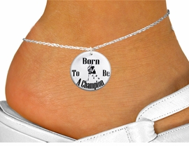 "<bR>                                  EXCLUSIVELY OURS!!<BR>                            AN ALLAN ROBIN DESIGN!!<BR>                   CLICK HERE TO SEE 600+ EXCITING<BR>                      CHANGES THAT YOU CAN MAKE!<BR>                               LEAD & NICKEL FREE!!<BR>W1149SAK - ""BORN TO BE A CHAMPION"" WOMENS ICE HOCKEY<Br>CHARM  & ANKLET FROM $3.35 TO $8.00 �2012"