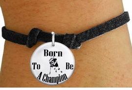 "<bR>                               EXCLUSIVELY OURS!!<BR>                         AN ALLAN ROBIN DESIGN!!<BR>                CLICK HERE TO SEE 600+ EXCITING<BR>                   CHANGES THAT YOU CAN MAKE!<BR>                             LEAD & NICKEL FREE!!<BR>W1149SB - ""BORN TO BE A CHAMPION"" WOMENS ICE HOCKEY <Br>CHARM  & CHILDRENS BRACELET FROM $4.15 TO $8.00 �2012"
