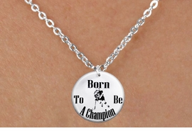 "<bR>                              EXCLUSIVELY OURS!!<BR>                        AN ALLAN ROBIN DESIGN!!<BR>               CLICK HERE TO SEE 600+ EXCITING<BR>                  CHANGES THAT YOU CAN MAKE!<BR>                             LEAD & NICKEL FREE!!<BR>W1149SN - ""BORN TO BE A CHAMPION"" WOMENS ICE HOCKEY <Br>CHARM & CHILDRENS NECKLACE FROM $4.55 TO $8.00 �2012"
