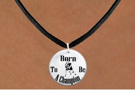 "<bR>                              EXCLUSIVELY OURS!!<BR>                        AN ALLAN ROBIN DESIGN!!<BR>               CLICK HERE TO SEE 600+ EXCITING<BR>                  CHANGES THAT YOU CAN MAKE!<BR>                             LEAD & NICKEL FREE!!<BR>W1149SN - ""BORN TO BE A CHAMPION"" WOMENS ICE HOCKEY<Br>CHARM & NECKLACE FROM $4.55 TO $8.00 �2012"