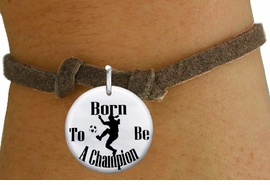 "<bR>                               EXCLUSIVELY OURS!!<BR>                         AN ALLAN ROBIN DESIGN!!<BR>                CLICK HERE TO SEE 600+ EXCITING<BR>                   CHANGES THAT YOU CAN MAKE!<BR>                             LEAD & NICKEL FREE!!<BR>W1155SB - ""BORN TO BE A CHAMPION"" WOMENS SOCCER<Br>CHARM  & CHILDRENS BRACELET FROM $4.15 TO $8.00 �2012"