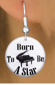 "<bR>                           EXCLUSIVELY OURS!!<BR>                     AN ALLAN ROBIN DESIGN!!<BR>            CLICK HERE TO SEE 600+ EXCITING<BR>               CHANGES THAT YOU CAN MAKE!<BR>                          LEAD & NICKEL FREE!!<BR>     W1171SE - ""BORN TO BE A STAR"" PIANO<Br>CHARM EARRINGS FROM $3.25 TO $8.00 �2012"