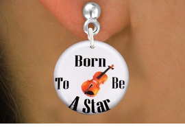 "<bR>                           EXCLUSIVELY OURS!!<BR>                     AN ALLAN ROBIN DESIGN!!<BR>            CLICK HERE TO SEE 600+ EXCITING<BR>               CHANGES THAT YOU CAN MAKE!<BR>                          LEAD & NICKEL FREE!!<BR>     W1172SE - ""BORN TO BE A STAR"" VIOLIN<Br>CHARM EARRINGS FROM $3.25 TO $8.00 �2012"