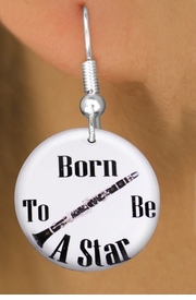 "<bR>                           EXCLUSIVELY OURS!!<BR>                     AN ALLAN ROBIN DESIGN!!<BR>            CLICK HERE TO SEE 600+ EXCITING<BR>               CHANGES THAT YOU CAN MAKE!<BR>                          LEAD & NICKEL FREE!!<BR>     W1173SE - ""BORN TO BE A STAR"" CLARINET<Br>CHARM EARRINGS FROM $3.25 TO $8.00 �2012"
