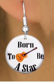"<bR>                           EXCLUSIVELY OURS!!<BR>                     AN ALLAN ROBIN DESIGN!!<BR>            CLICK HERE TO SEE 600+ EXCITING<BR>               CHANGES THAT YOU CAN MAKE!<BR>                          LEAD & NICKEL FREE!!<BR>     W1174SE - ""BORN TO BE A STAR"" GUITAR<Br>CHARM EARRINGS FROM $3.25 TO $8.00 �2012"
