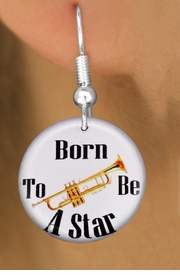 "<bR>                           EXCLUSIVELY OURS!!<BR>                     AN ALLAN ROBIN DESIGN!!<BR>            CLICK HERE TO SEE 600+ EXCITING<BR>               CHANGES THAT YOU CAN MAKE!<BR>                          LEAD & NICKEL FREE!!<BR>      W1175SE - ""BORN TO BE A STAR"" TRUMPET<Br>CHARM EARRINGS FROM $3.25 TO $8.00 �2012"
