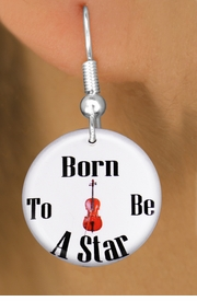 "<bR>                           EXCLUSIVELY OURS!!<BR>                     AN ALLAN ROBIN DESIGN!!<BR>            CLICK HERE TO SEE 600+ EXCITING<BR>               CHANGES THAT YOU CAN MAKE!<BR>                          LEAD & NICKEL FREE!!<BR>      W1176SE - ""BORN TO BE A STAR"" CELLO <Br>CHARM EARRINGS FROM $3.25 TO $8.00 �2012"