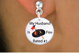 "<bR>                            EXCLUSIVELY OURS!!<BR>                      AN ALLAN ROBIN DESIGN!!<BR>             CLICK HERE TO SEE 600+ EXCITING<BR>                CHANGES THAT YOU CAN MAKE!<BR>                         LEAD & NICKEL FREE!! <BR>W1179SE - ""MY HUSBAND IS FIRE RATED #1"" <BR>         FIRE HELMET AND AXE CHARM <Br>         EARRINGS FROM $3.25 TO $8.00 �2012"