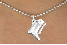 <bR>                  EXCLUSIVELY OURS!!<BR>            AN ALLAN ROBIN DESIGN!!<BR>   CLICK HERE TO SEE 600+ EXCITING<BR>      CHANGES THAT YOU CAN MAKE!<BR>                 LEAD & NICKEL FREE!!<BR>W1182SN - DRILL TEAM TALL BOOT CHARM <Br>& NECKLACE FROM $4.50 TO $8.35 �2012