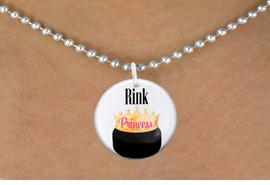 "<bR>                              EXCLUSIVELY OURS!!<BR>                        AN ALLAN ROBIN DESIGN!!<BR>               CLICK HERE TO SEE 600+ EXCITING<BR>                  CHANGES THAT YOU CAN MAKE!<BR>                             LEAD & NICKEL FREE!!<BR>W1192SN - ""RINK PRINCESS"" WOMENS ICE HOCKEY<Br>CHARM & NECKLACE FROM $4.55 TO $8.00 �2012"
