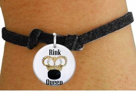 "<bR>                               EXCLUSIVELY OURS!!<BR>                         AN ALLAN ROBIN DESIGN!!<BR>                CLICK HERE TO SEE 600+ EXCITING<BR>                   CHANGES THAT YOU CAN MAKE!<BR>                             LEAD & NICKEL FREE!!<BR>W1193SB - ""RINK QUEEN"" WOMENS ICE HOCKEY<Br>CHARM & CHILDRENS BRACELET FROM $4.15 TO $8.00 �2012"