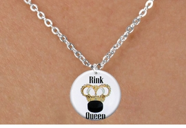 "<bR>                              EXCLUSIVELY OURS!!<BR>                        AN ALLAN ROBIN DESIGN!!<BR>               CLICK HERE TO SEE 600+ EXCITING<BR>                  CHANGES THAT YOU CAN MAKE!<BR>                             LEAD & NICKEL FREE!!<BR>W1193SN - ""RINK QUEEN"" WOMENS ICE HOCKEY CHARM <Br>& CHILDRENS NECKLACE FROM $4.55 TO $8.00 �2012"