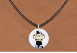"<bR>                              EXCLUSIVELY OURS!!<BR>                        AN ALLAN ROBIN DESIGN!!<BR>               CLICK HERE TO SEE 600+ EXCITING<BR>                  CHANGES THAT YOU CAN MAKE!<BR>                             LEAD & NICKEL FREE!!<BR>W1193SN - ""RINK QUEEN"" WOMENS ICE HOCKEY<Br>CHARM & NECKLACE FROM $4.55 TO $8.00 �2012"