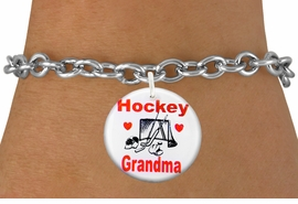 "<bR>                               EXCLUSIVELY OURS!!<BR>                         AN ALLAN ROBIN DESIGN!!<BR>                CLICK HERE TO SEE 600+ EXCITING<BR>                   CHANGES THAT YOU CAN MAKE!<BR>                             LEAD & NICKEL FREE!!<BR>W1194SB - ""HOCKEY GRANDMA"" HOCKEY<Br>CHARM  & BRACELET FROM $4.15 TO $8.00 �2012"
