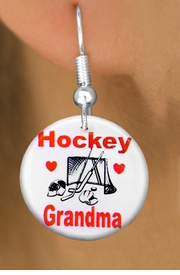 "<bR>                           EXCLUSIVELY OURS!!<BR>                     AN ALLAN ROBIN DESIGN!!<BR>            CLICK HERE TO SEE 600+ EXCITING<BR>               CHANGES THAT YOU CAN MAKE!<BR>                          LEAD & NICKEL FREE!!<BR>W1194SE - ""HOCKEY GRANDMA"" HOCKEY<Br>CHARM EARRINGS FROM $3.25 TO $8.00 �2012"