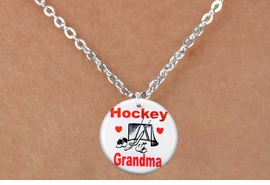 "<bR>                              EXCLUSIVELY OURS!!<BR>                        AN ALLAN ROBIN DESIGN!!<BR>               CLICK HERE TO SEE 600+ EXCITING<BR>                  CHANGES THAT YOU CAN MAKE!<BR>                             LEAD & NICKEL FREE!!<BR>W1194SN - ""HOCKEY GRANDMA"" HOCKEY CHARM <Br>& CHILDREN NECKLACE FROM $4.55 TO $8.00 �2012"