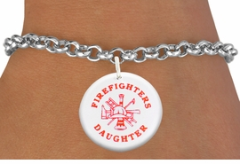 "<bR>                            EXCLUSIVELY OURS!!<BR>                      AN ALLAN ROBIN DESIGN!!<BR>             CLICK HERE TO SEE 600+ EXCITING<BR>                CHANGES THAT YOU CAN MAKE!<BR>                         LEAD & NICKEL FREE!! <BR>W1199SB - ""FIREFIGHTERS DAUGHTER"" WITH <BR>FIRE HELMET, LADDER AND AXE CHARM <Br>        & BRACELET FROM $4.15 TO $8.00 �2012"