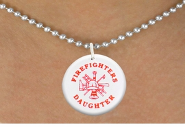 "<bR>                            EXCLUSIVELY OURS!!<BR>                      AN ALLAN ROBIN DESIGN!!<BR>             CLICK HERE TO SEE 600+ EXCITING<BR>                CHANGES THAT YOU CAN MAKE!<BR>                         LEAD & NICKEL FREE!! <BR>        W1199SN - ""FIREFIGHTERS DAUGHTER"" <BR>        FIRE HELMET, LADDER AND AXE CHARM <Br>        & NECKLACE FROM $4.50 TO $8.35 �2012"