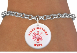 "<bR>                            EXCLUSIVELY OURS!!<BR>                      AN ALLAN ROBIN DESIGN!!<BR>             CLICK HERE TO SEE 600+ EXCITING<BR>                CHANGES THAT YOU CAN MAKE!<BR>                         LEAD & NICKEL FREE!! <BR>W1200SB - ""FIREFIGHTERS WIFE"" WITH <BR>FIRE HELMET, LADDER AND AXE CHARM <Br>        & BRACELET FROM $4.15 TO $8.00 �2012"