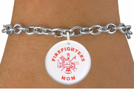 "<bR>                            EXCLUSIVELY OURS!!<BR>                      AN ALLAN ROBIN DESIGN!!<BR>             CLICK HERE TO SEE 600+ EXCITING<BR>                CHANGES THAT YOU CAN MAKE!<BR>                         LEAD & NICKEL FREE!! <BR>W1201SB - ""FIREFIGHTERS MOM"" WITH <BR>FIRE HELMET, LADDER AND AXE CHARM <Br>        & BRACELET FROM $4.15 TO $8.00 �2012"