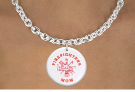 "<bR>                            EXCLUSIVELY OURS!!<BR>                      AN ALLAN ROBIN DESIGN!!<BR>             CLICK HERE TO SEE 600+ EXCITING<BR>                CHANGES THAT YOU CAN MAKE!<BR>                         LEAD & NICKEL FREE!! <BR>           W1201SN - ""FIREFIGHTERS MOM"" <BR>        FIRE HELMET, LADDER AND AXE CHARM <Br>        & NECKLACE FROM $4.55 TO $8.00 �2012"