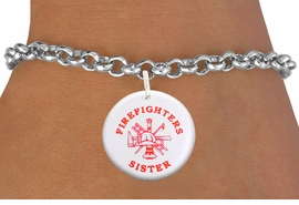 "<bR>                            EXCLUSIVELY OURS!!<BR>                      AN ALLAN ROBIN DESIGN!!<BR>             CLICK HERE TO SEE 600+ EXCITING<BR>                CHANGES THAT YOU CAN MAKE!<BR>                         LEAD & NICKEL FREE!! <BR>W1202SB - ""FIREFIGHTERS SISTER"" WITH <BR>FIRE HELMET, LADDER AND AXE CHARM <Br>        & BRACELET FROM $4.15 TO $8.00 �2012"