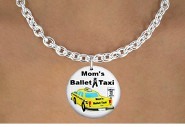 "<bR>                            EXCLUSIVELY OURS!!<BR>                      AN ALLAN ROBIN DESIGN!!<BR>             CLICK HERE TO SEE 600+ EXCITING<BR>                CHANGES THAT YOU CAN MAKE!<BR>                         LEAD & NICKEL FREE!! <BR>W1205SE - ""MOM'S BALLET TAXI"" HUMOROUS CHARM <Br>        & NECKLACE FROM $4.55 TO $8.00 �2012"