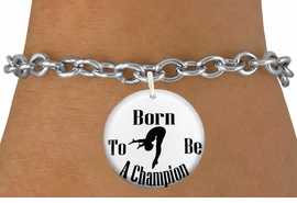 """<bR>                               EXCLUSIVELY OURS!!<BR>                         AN ALLAN ROBIN DESIGN!!<BR>                CLICK HERE TO SEE 600+ EXCITING<BR>                   CHANGES THAT YOU CAN MAKE!<BR>                             LEAD & NICKEL FREE!!<BR>   W1209SB - """"BORN TO BE A CHAMPION"""" DIVER <Br>CHARM  & BRACELET FROM $4.15 TO $8.00 �2012"""
