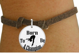 """<bR>                               EXCLUSIVELY OURS!!<BR>                         AN ALLAN ROBIN DESIGN!!<BR>                CLICK HERE TO SEE 600+ EXCITING<BR>                   CHANGES THAT YOU CAN MAKE!<BR>                             LEAD & NICKEL FREE!!<BR>W1209SB - """"BORN TO BE A CHAMPION"""" DIVER CHARM  <Br>& CHILDRENS BRACELET FROM $4.15 TO $8.00 �2012"""