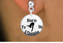 """<bR>                            EXCLUSIVELY OURS!!<BR>                      AN ALLAN ROBIN DESIGN!!<BR>             CLICK HERE TO SEE 600+ EXCITING<BR>                CHANGES THAT YOU CAN MAKE!<BR>                         LEAD & NICKEL FREE!! <BR> W1209SE - """"BORN TO BE A CHAMPION"""" DIVER <Br>CHARM EARRINGS FROM $3.25 TO $8.00 �2012"""