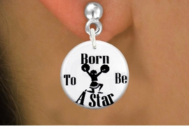 "<bR>                            EXCLUSIVELY OURS!!<BR>                      AN ALLAN ROBIN DESIGN!!<BR>             CLICK HERE TO SEE 600+ EXCITING<BR>                CHANGES THAT YOU CAN MAKE!<BR>                         LEAD & NICKEL FREE!! <BR> W1222SE - ""BORN TO BE A STAR"" CHEERLEADER <Br>CHARM EARRINGS FROM $3.25 TO $8.00 �2012"