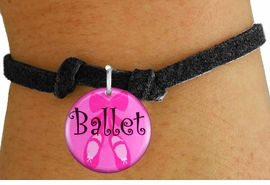"<bR>                     EXCLUSIVELY OURS!!<BR>               AN ALLAN ROBIN DESIGN!!<BR>      CLICK HERE TO SEE 600+ EXCITING<BR>         CHANGES THAT YOU CAN MAKE!<BR>                  LEAD & NICKEL FREE!!<BR>W1228SB - PINK ""BALLET"" SHOES CHARM  <Br>& CHILDRENS BRACELET FROM $4.15 TO $8.00 �2012"